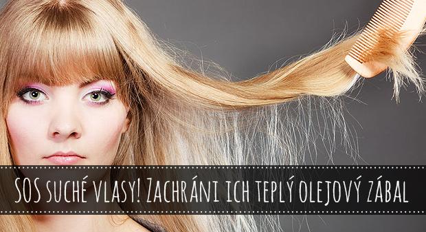 SOS suché vlasy! Zachráni ich teplý olejový zábal
