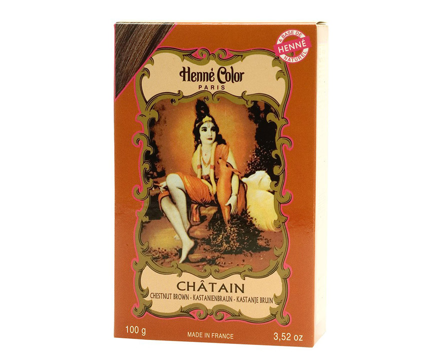 Henné Color Paris Chatain Henna Powder, Henné Color 100g - Gaštanová