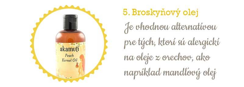 Citlivá pleť - broskyňový olej