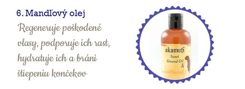 11 najlepších olejov na vlasy - mandľový