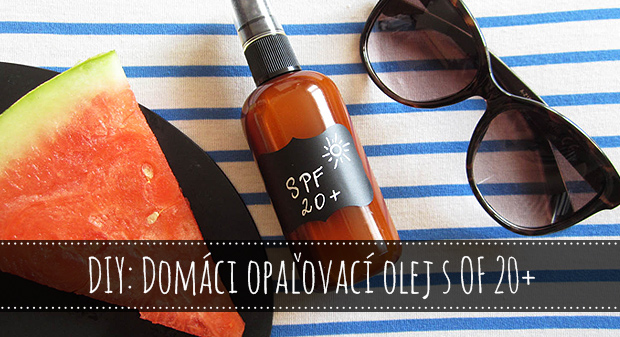 Domáci opaľovací olej s OF 20+
