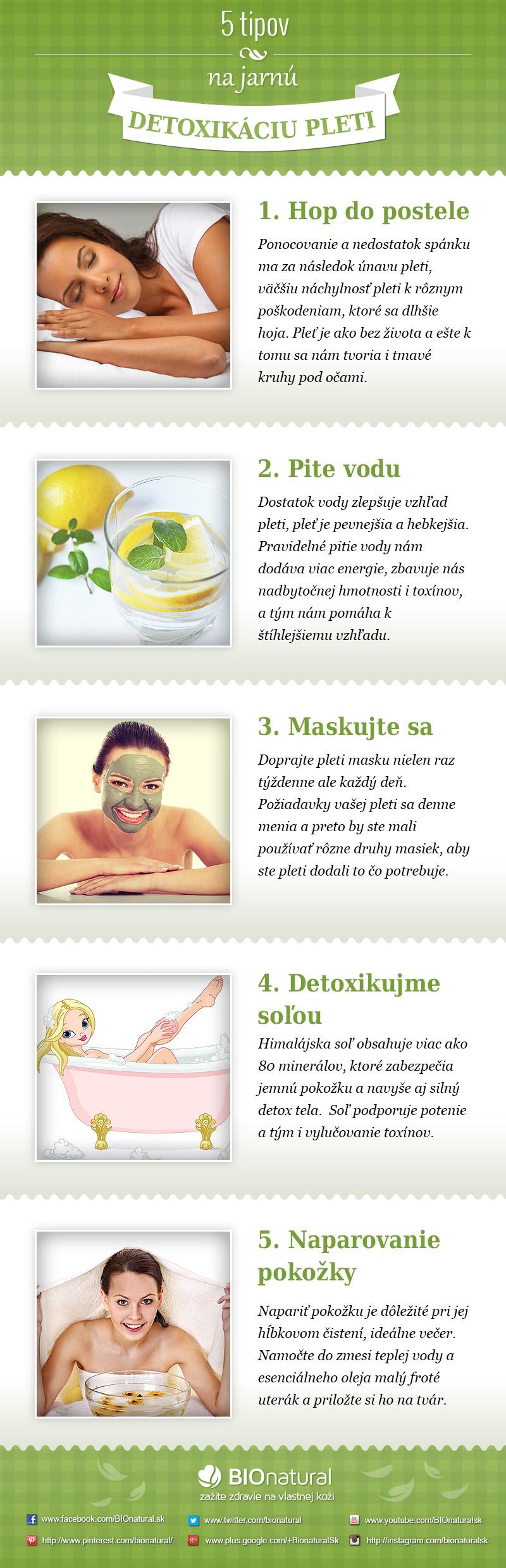 5 tipov na jarnú detoxikáciu pleti