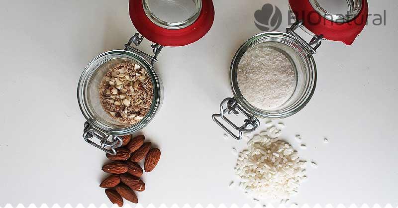 DIY tuhý telový balzam - rozomletá ryža a mandle