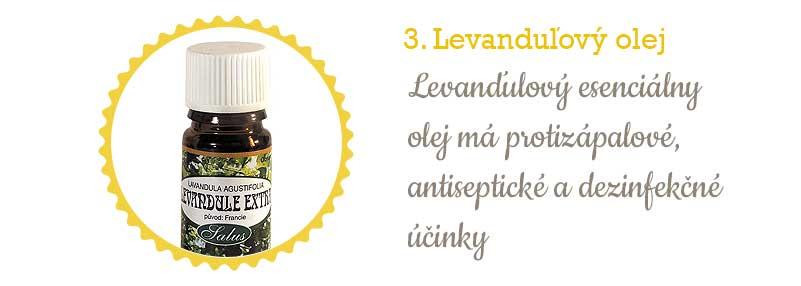 Citlivá pleť - levanduľový olej