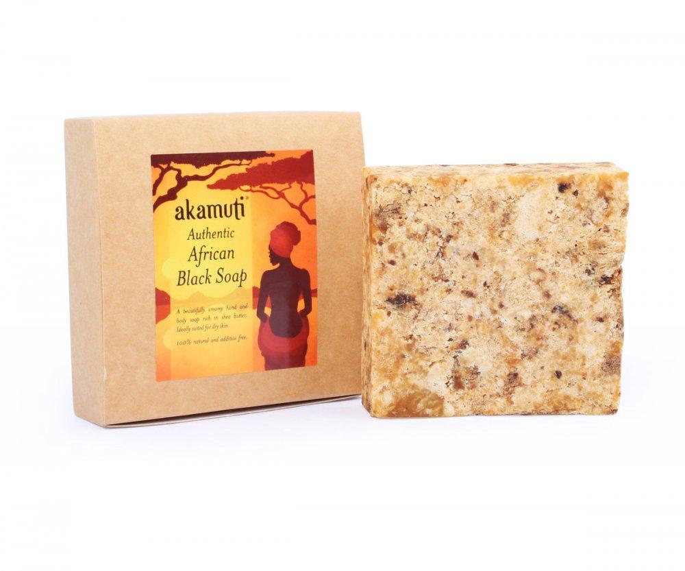 Akamuti Africké čierne mydlo 130 g