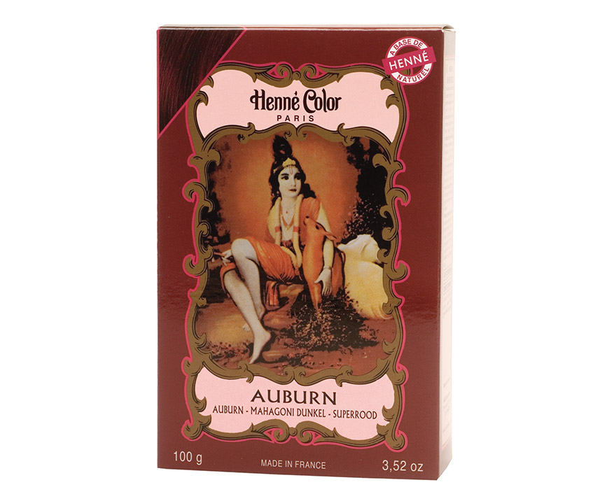Henné Color Paris Auburn Henna Powder, Henné Color 100g - Bordová