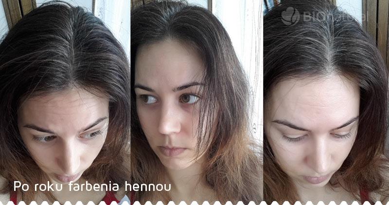 Po roku farbenia hennou