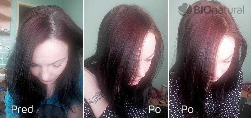 Mahagónová henna na vlasy;