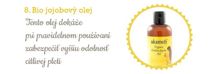 Citlivá pleť - jojobový olej