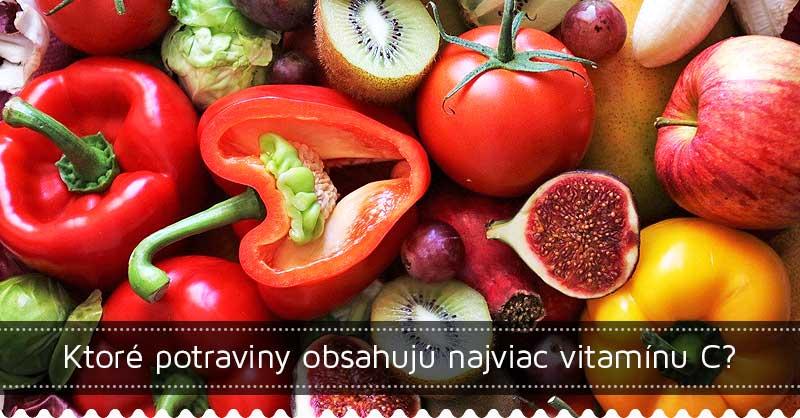 Ktoré potraviny obsahujú najviac vitamínu C?