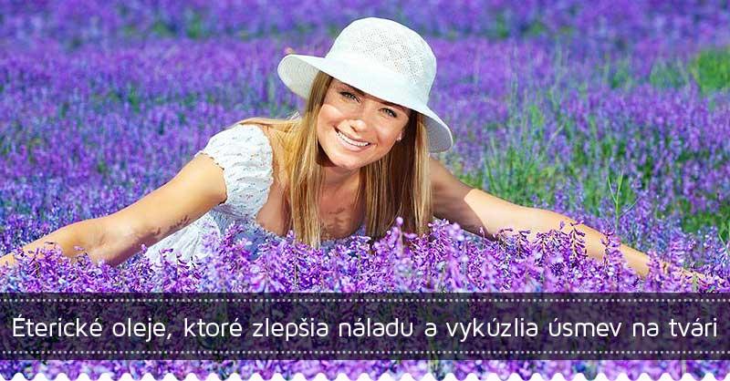 Éterické oleje, ktoré zlepšia náladu a vykúzlia úsmev na tvári