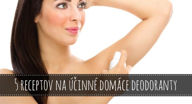 5 receptov na účinné domáce deodoranty