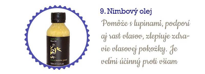 11 najlepších olejov na vlasy - nimbový