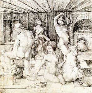 Albrecht Dürer - Ženský kúpeľ