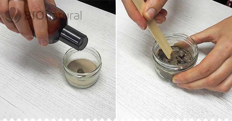 Zmes olejov pridáme k rhassoul ílu