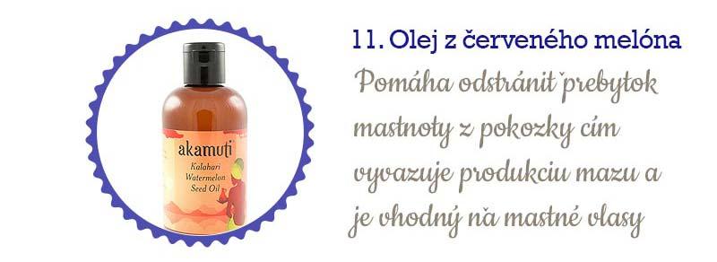 11 najlepších olejov na vlasy - z vodového melóna
