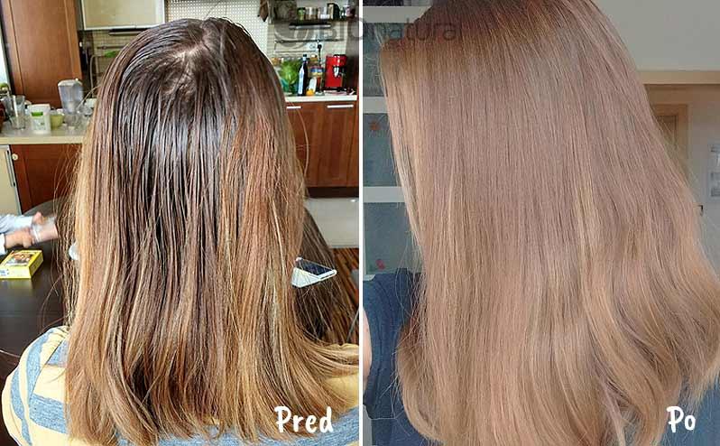 Blond a hnedá henna na vlasy