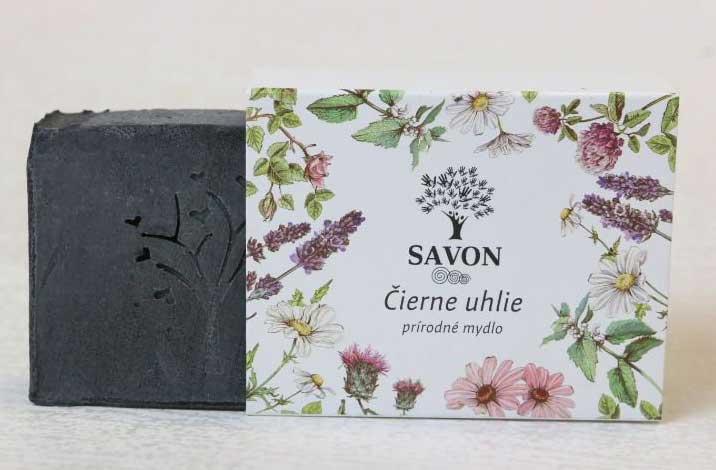 Savon Čierne uhlie, mydlo 100 g
