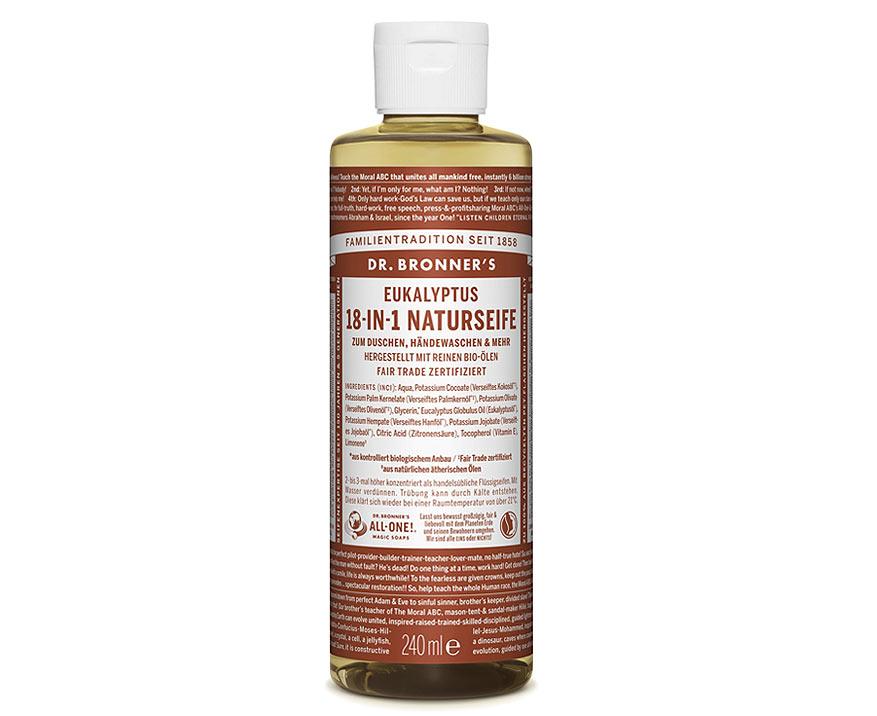 Dr. Bronner's Tekuté kastílske mydlo Eukalyptus 240 ml