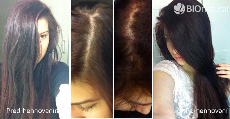 Bordová a mahagónová henna na vlasy