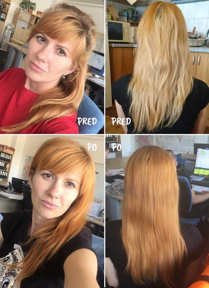 Medená a blond henna