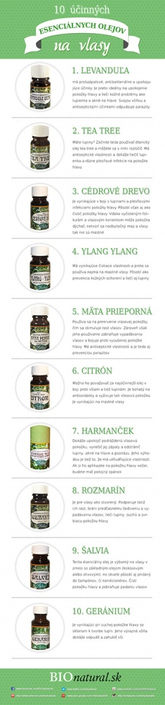 10 účinných esenciálnych olejov na vlasy