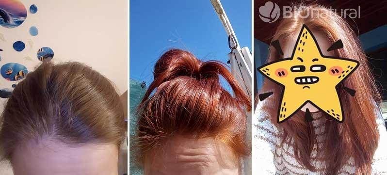 Medená a bordová henna na vlasy