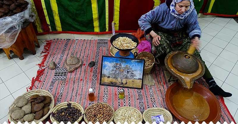 Výroba arganového oleja
