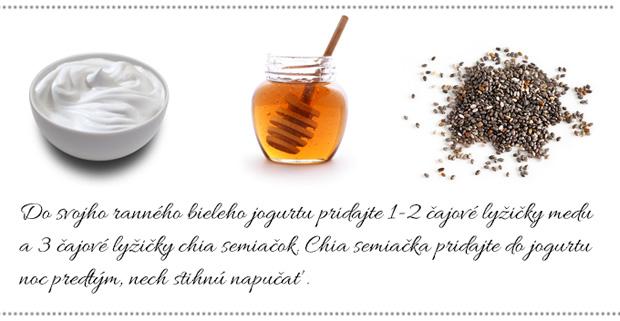 Hydratačná maska s jogurtom, medom a chia semiačkami