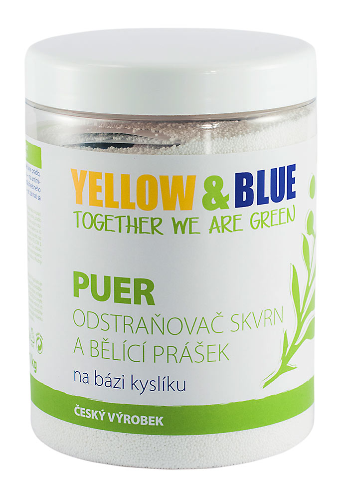 Yellow and Blue Bieliaci prášok Puer, 1000 g