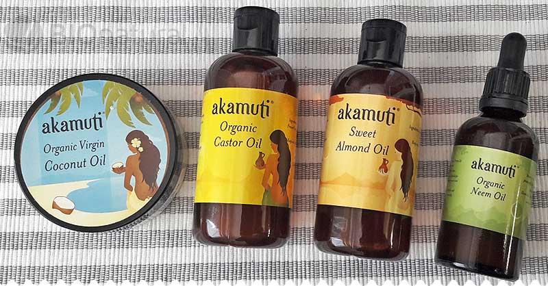 Bio kokosový, mandľový, bio ricínový a bio neem olej