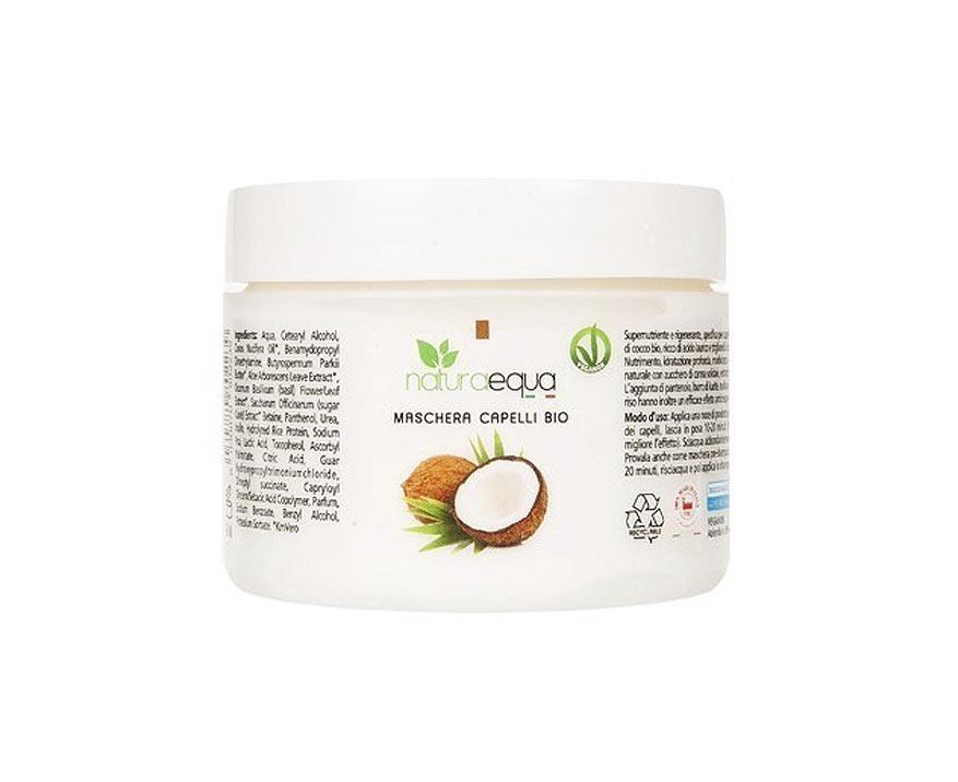 NaturaEqua Bio regeneračná kokosová maska na vlasy 250 ml