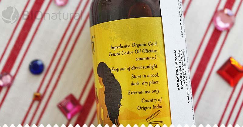 Bio ricínový olej Akamuti - zloženie