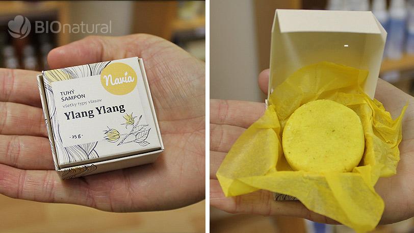 Hodnotenie tuhého šampónu Ylang Ylang značky Navia