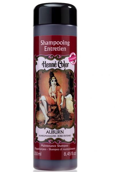 Bordový šampón na vlasy