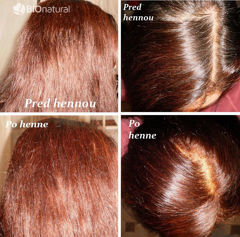 Bordová henna na vlasy