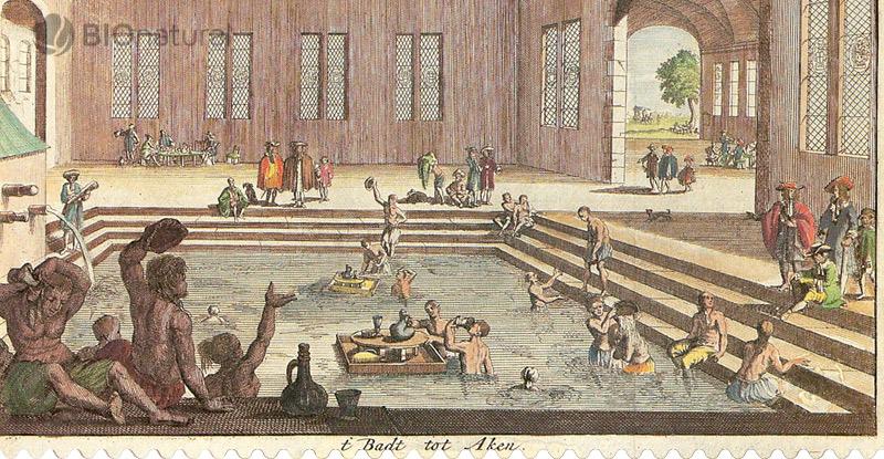 Horúce kúpele v Aachene - 1682