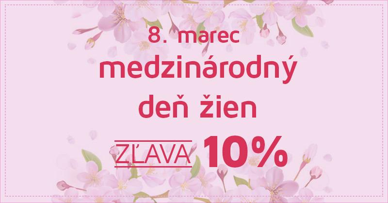 8. marec MDŽ - zľava 10% na všetok sortiment