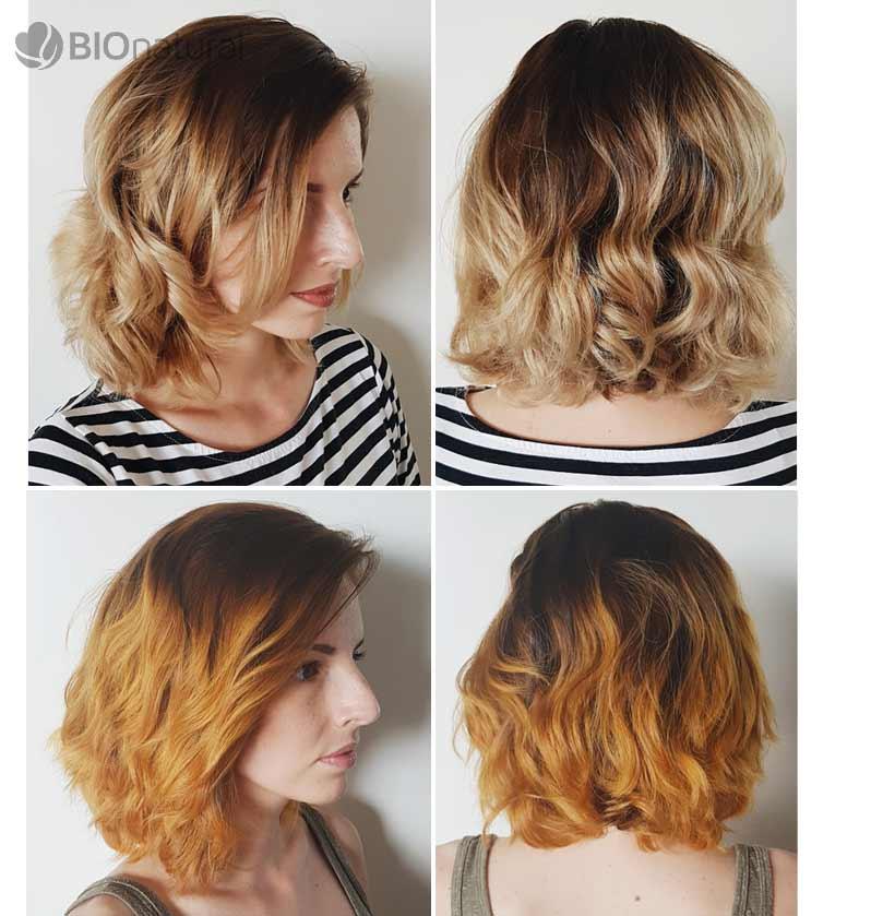 Medená a blond henna na vlasy