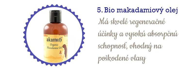 11 najlepších olejov na vlasy - makadamiový