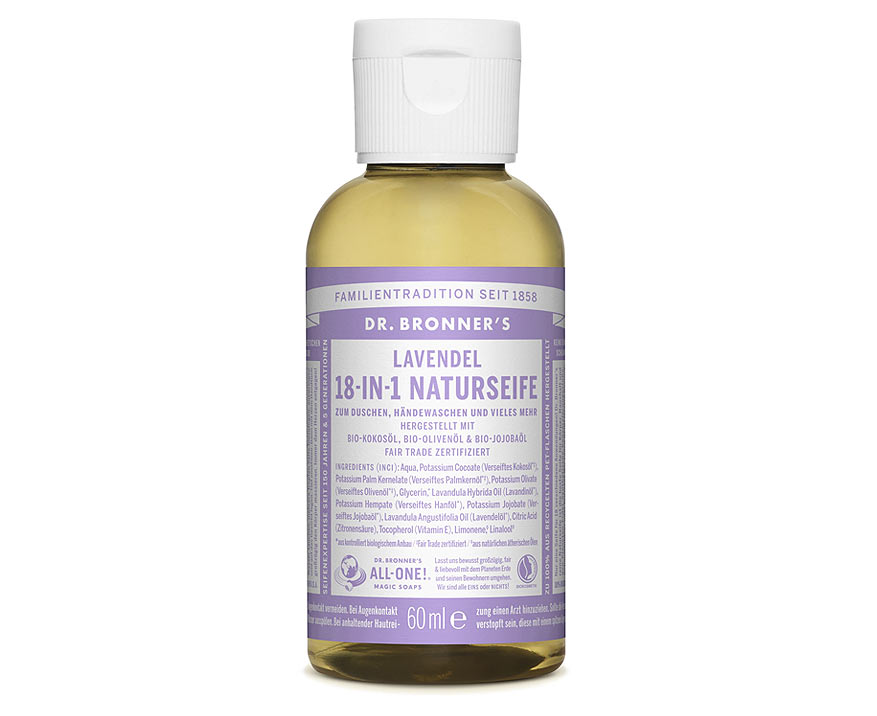 Dr. Bronner's Tekuté kastílske mydlo Levanduľa 60 ml