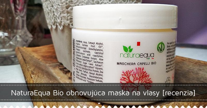 NaturaEqua Bio obnovujúca maska na vlasy