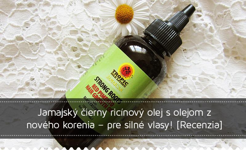 Jamajský čierny ricínový olej s olejom z nového korenia