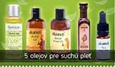 5 olejov pre suchú pleť