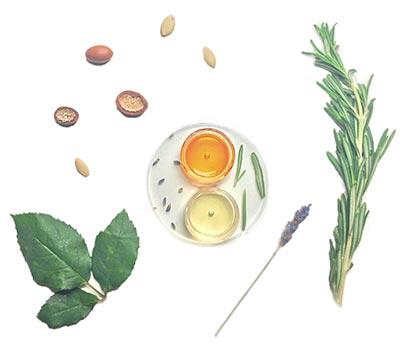 Bio arganový, rakytníkový olej, rozmarín, céder, levanduľa