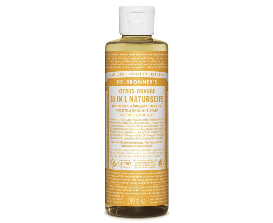 Dr. Bronner's Tekuté kastílske mydlo Citrus a Pomaranč 240 ml