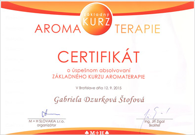 Základný kurz aromaterapie - Gabriela Dzurková Štofová