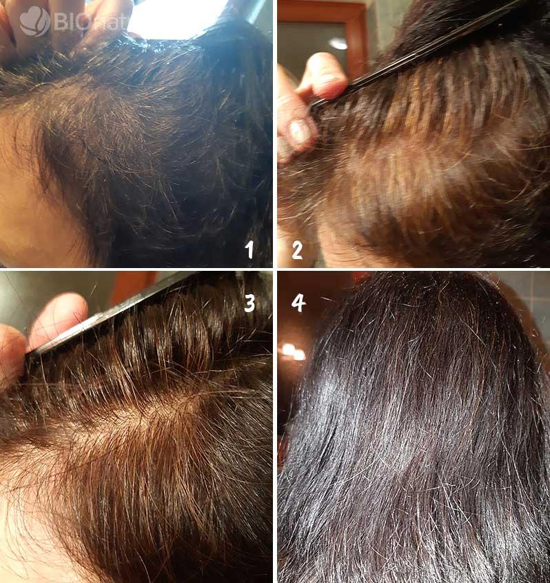 Medená a hnedá henna na vlasy