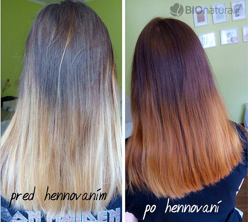 Medená a gaštanová henna na vlasy