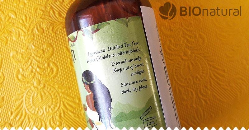 Zloženie kvetinovej vody Tea tree